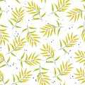 Tropical seamless pattern leaves