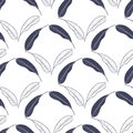 Tropical seamless pattern with mango leaves. Vector hand drawn illustration for print,textile,wrapping paper.