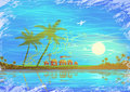 Tropical seashore scenery