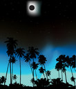 Tropical solar eclips Royalty Free Stock Photography