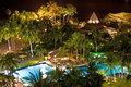 Tropical spa resort. Night landscape. Stock Images
