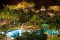 Tropical spa toevlucht. Het landschap van de nacht. Stock Afbeeldingen