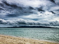 Tropical storm clouds Royalty Free Stock Photo