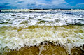 Tropical Storm Waves on the Beach Stock Photos