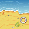 Tropical Summer Beach Illustration
