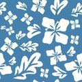 Tropical summer flowers seamless pattern decorative background vector illustration Royalty Free Stock Images