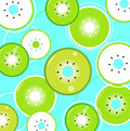 Tropical summer Kiwi background or pattern Royalty Free Stock Photography