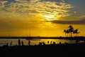 Sunset Tropical Golden Sky Royalty Free Stock Photo