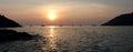 Tropical sunset. Panorama Royalty Free Stock Photo