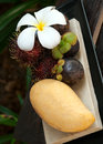 Tropical sweet delicious fruits Royalty Free Stock Photos