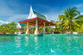 Tropical swimming pool in Thailand Royalty Free Stock Image