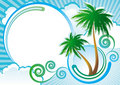 Tropical vector background Royalty Free Stock Photo