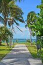 Bahamas Walkway Royalty Free Stock Photo