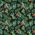 Tropical Wallpaper Seamless Textile Print Jungle Birds of Paradise