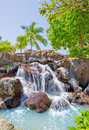 Tropical waterfall Stock Photos