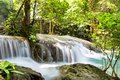 Tropical waterfall erawan kanchanaburi thailand Stock Photography