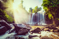 Stock Photo Tropical waterfall