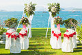 Tropical wedding Royalty Free Stock Images