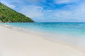 Tropical white sand beach and blue sky. Similan islands Royalty Free Stock Photo