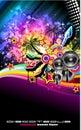 Tropilca Disco Dance Latin Music flyer Royalty Free Stock Photo