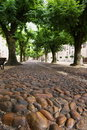 Trottoir en pierre Photo stock