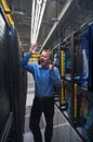 Trouble in datacenter Stock Photos