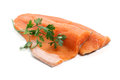 Trout fillet with parsley Royalty Free Stock Photos