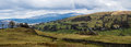 Troutbeck valley panorama a of in the english lake district cumbria Stock Image