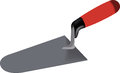 Trowel tool for spreading cement Royalty Free Stock Images