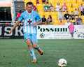 Troy cole wilmington hammerheads defender Royalty Free Stock Image