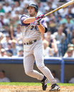 Troy glaus anaheim angels b image taken from color slide Royalty Free Stock Photos