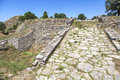 Troy ruins the of the ancient city of in turkey Stock Images
