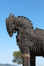 Troy wooden horse at canakkale turkey the copy of Royalty Free Stock Photo