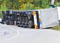Truck accident Royalty Free Stock Photo