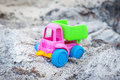 Truck in the ashes toy dump summer day Stock Photography