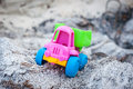 Truck in the ashes toy dump summer day Stock Photo