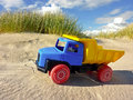 Truck on the beach of denmark Stock Image