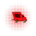 Truck comics icon