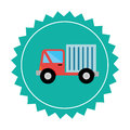 Truck delivery service icon