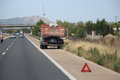 Truck down on motorway in majorca spain Stock Photography