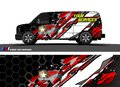 Truck graphics. Vehicles racing stripes background