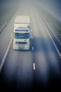 Truck on highway Royalty Free Stock Photo
