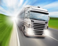 Truck on highway cargo speeding Royalty Free Stock Photography