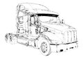 Truck illustration color isolated art drawing i am a traditional artist this is a handmade on paper i use pencil for this the is Royalty Free Stock Photography