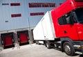 Nákladné auto logistika budova