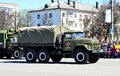 Truck military in front of the victory parade on may россия Royalty Free Stock Photo