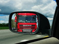 Truck in the rearview mirror. Royalty Free Stock Photo