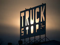 Truck Stop Sign Royalty Free Stock Photography