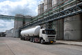 Truck, Tanker Delivery Danger Chemical in Petrochemical Plant Royalty Free Stock Photo