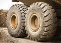 Truck Tires Royalty Free Stock Photos